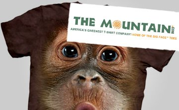 mountain animal face t-shirts