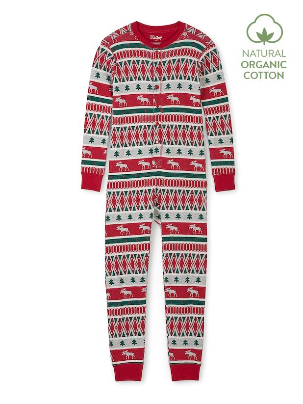 Hatley Pyjamas | Winter Fair Isle Onesie | 100% Organic Cotton