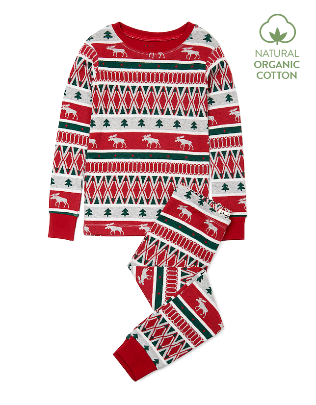 Hatley Pyjamas | Winter Fair Isle | 100% Organic Cotton