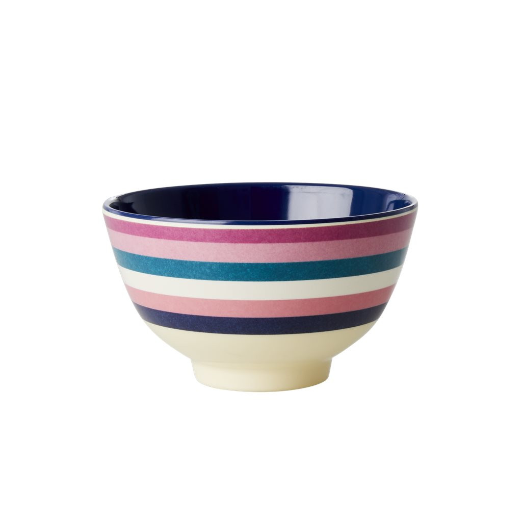 Rice Melamine Bowl | Stripe Print