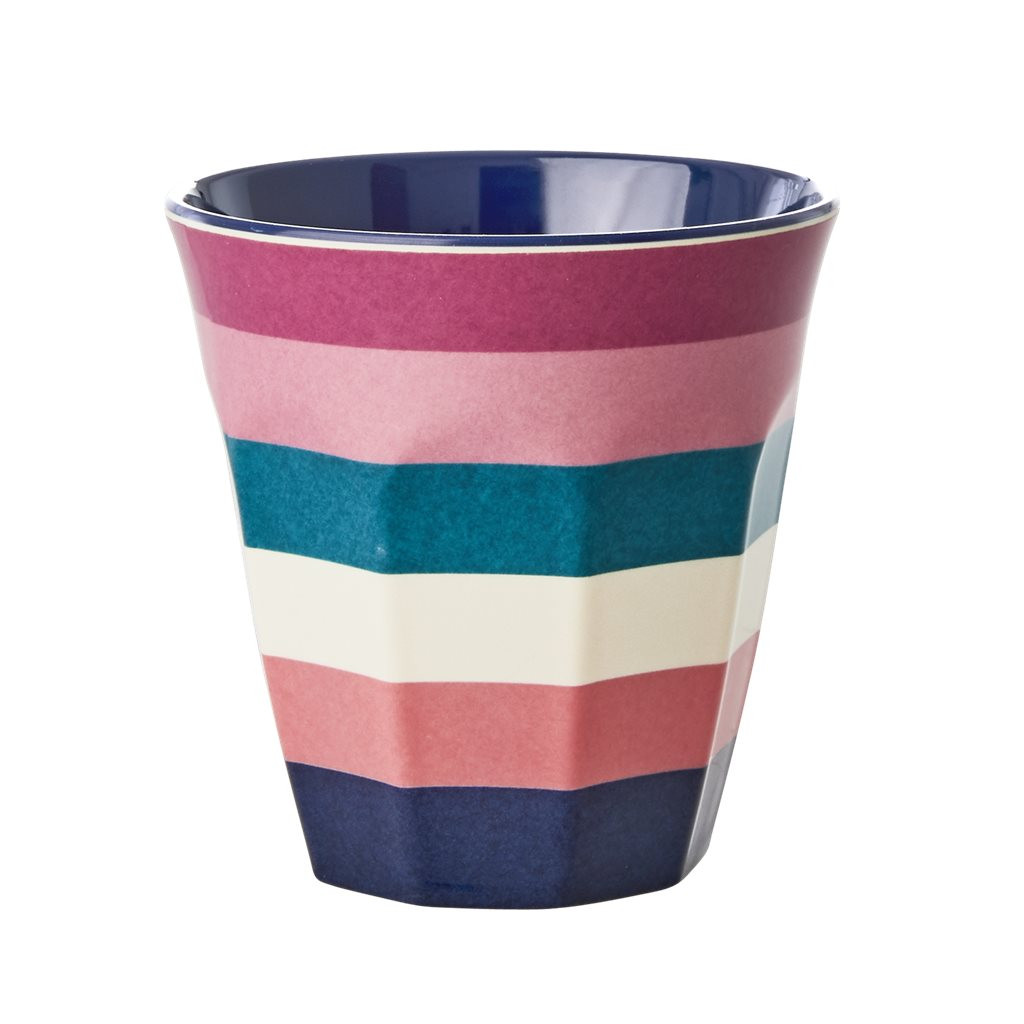 Rice Melamine Cup | Stripe Print