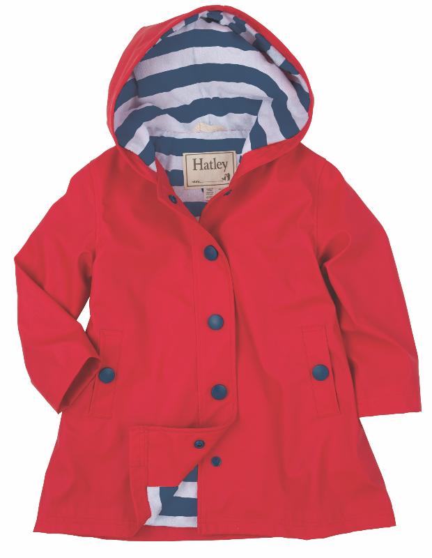Hatley Raincoat | Splash Jacket | Red & Navy