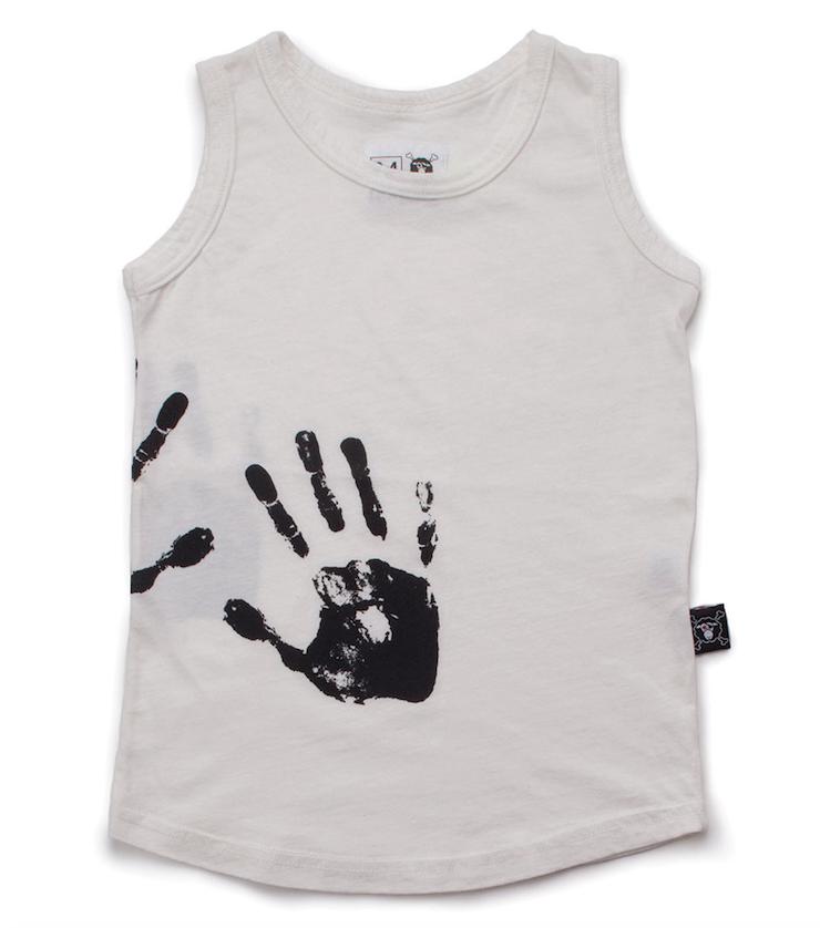 nununu - HAND PRINT TANK TOP - White