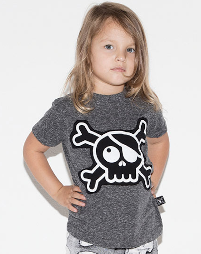 nununu - SKULL PATCH Tee - Charcoal
