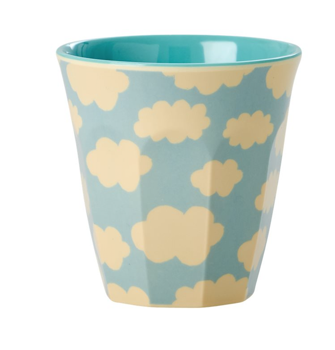 Rice - Kids Melamine Cup - Cloud Print