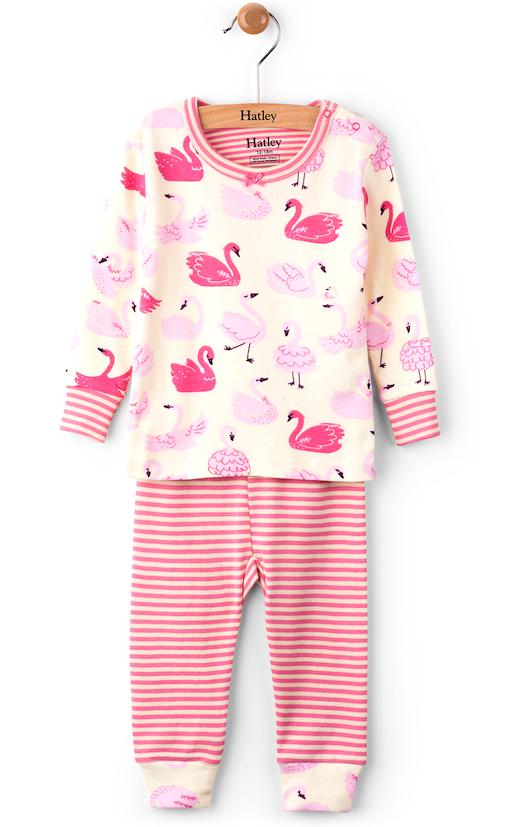 Infant Hatley Pyjamas - Swans