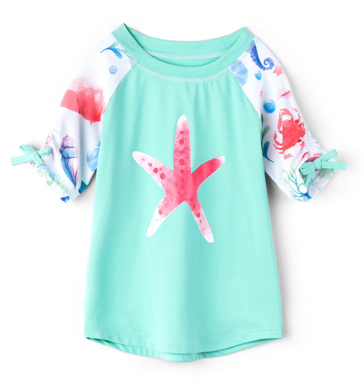 Hatley Girls RASHGUARD - Ocean Treasures