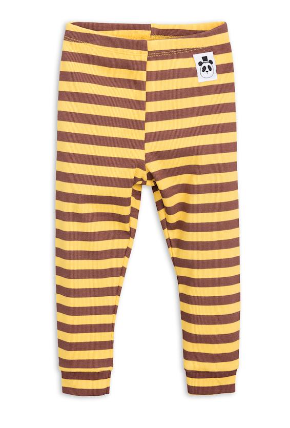 mini rodini - ORGANIC COTTON LEGGINGS - Stripe Rib