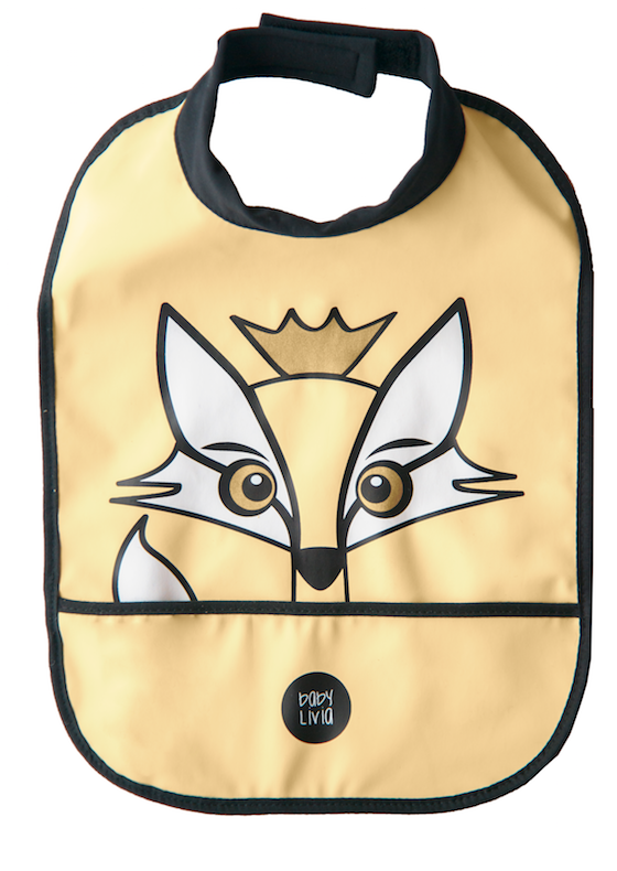 Baby Livia High Neck Bib - Rudy the Fox - Yellow