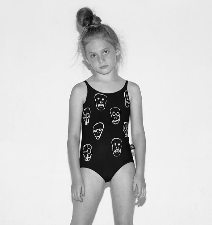 nununu - SKULL MASK SWIMSUIT - Black