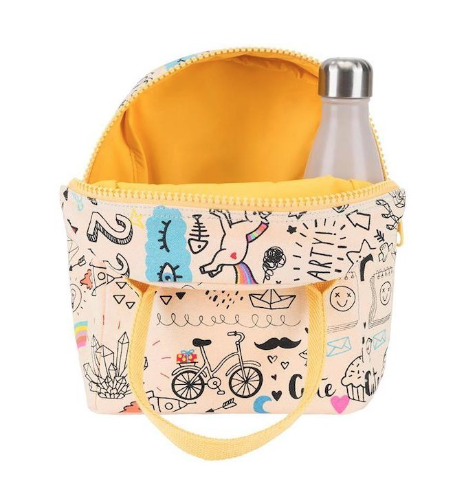 FLUF - ZIPPER ORGANIC LUNCH BAG - Whatever