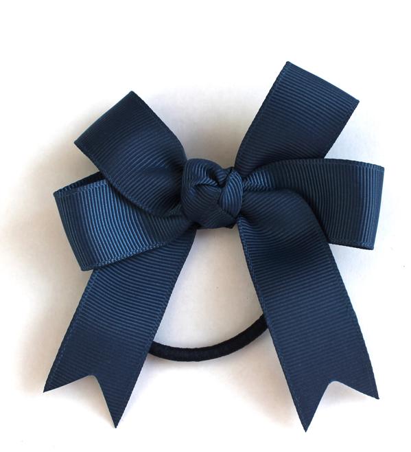 lottie nottie   Double Bow Hair Band   Navy