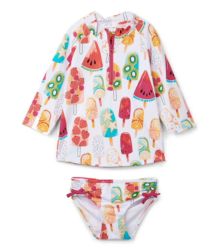 Hatley Swimwear | Girls Rashguard Set | Popsicles