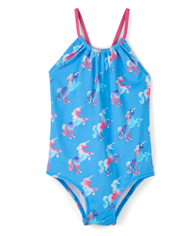 Hatley Swimwear | Girls Swimsuit | Rainbow Unicorn