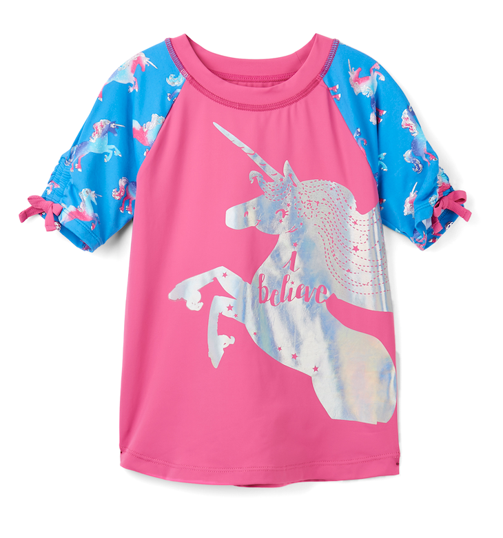 Hatley Swimwear | Girls Rashguard  | Rainbows Unicorn