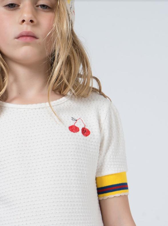 bobo choses | cherry | short sleeve t-shirt | close up