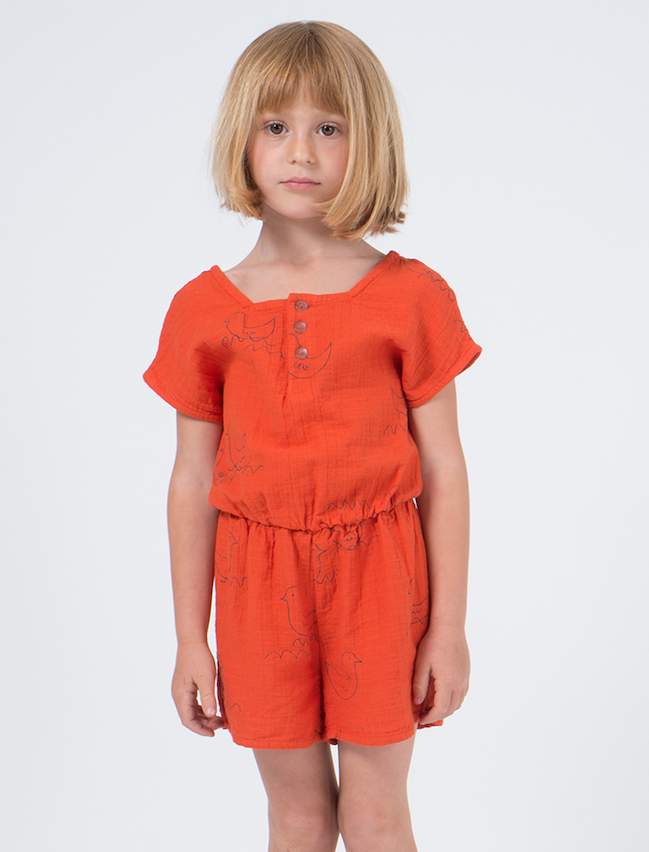 bobo choses | cotton playsuit | geese