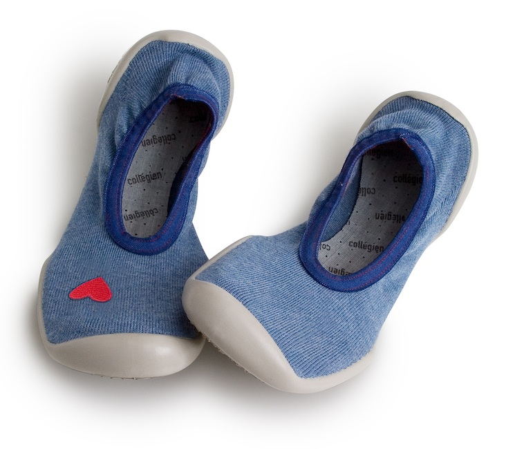 Collegien | Ballerina Slippers | Blue Jeans with Heart