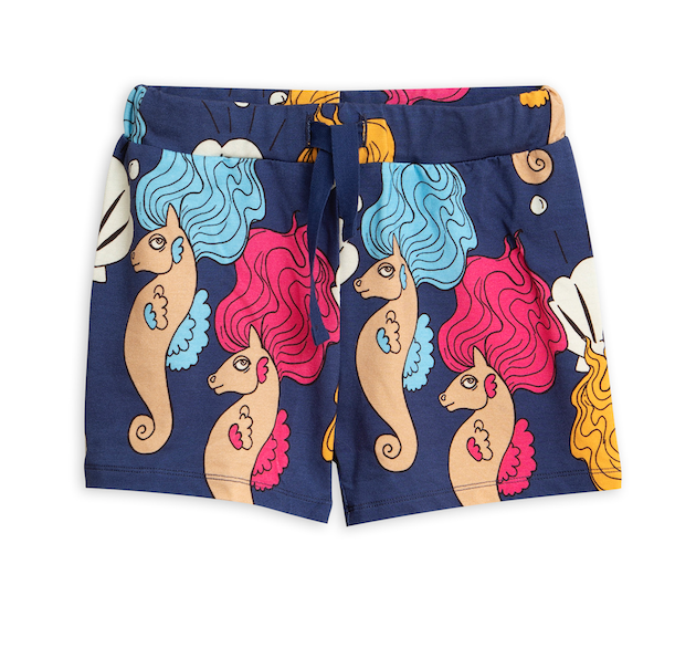 mini rodini | seahorse swimshorts | navy blue
