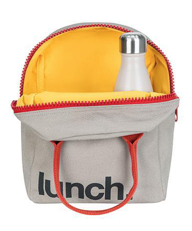 FLUF Grey Rust Lunch Bag with Zipper
