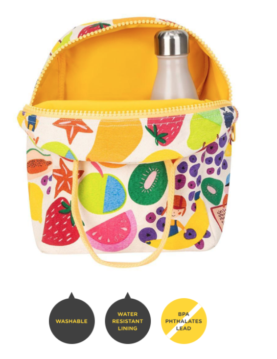 FLUF Eat the Rainbow Lunch Bag with Zipper