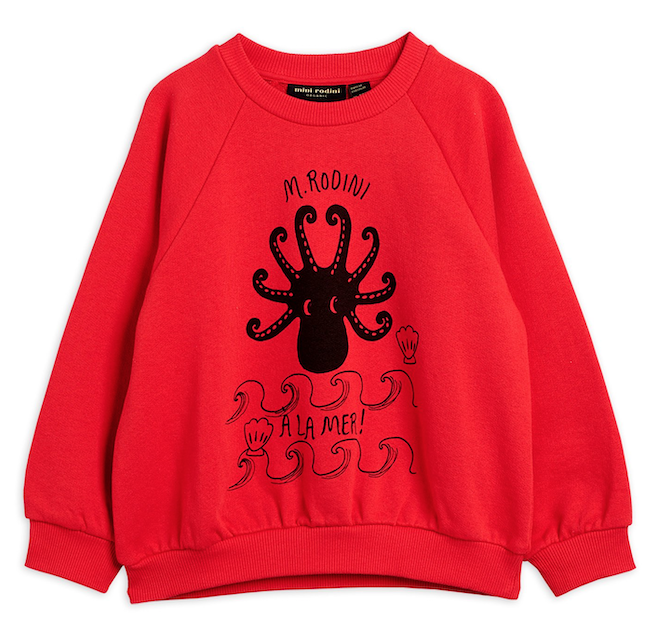 Mini Rodini | Octopus Sweatshirt in Red