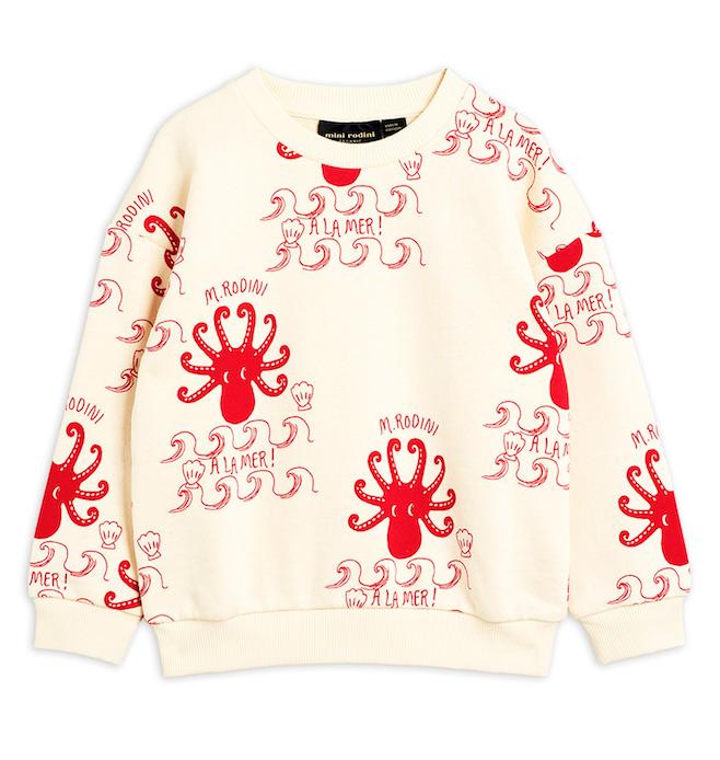 Mini Rodini | Octopus Sweatshirt in Off White