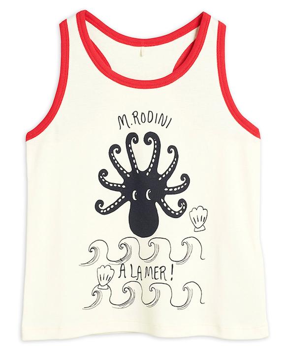 Mini Rodini | Octopus Vest in Red