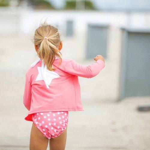 Petit Crabe - Long Sleeved Swimshirt - Star in Blossom