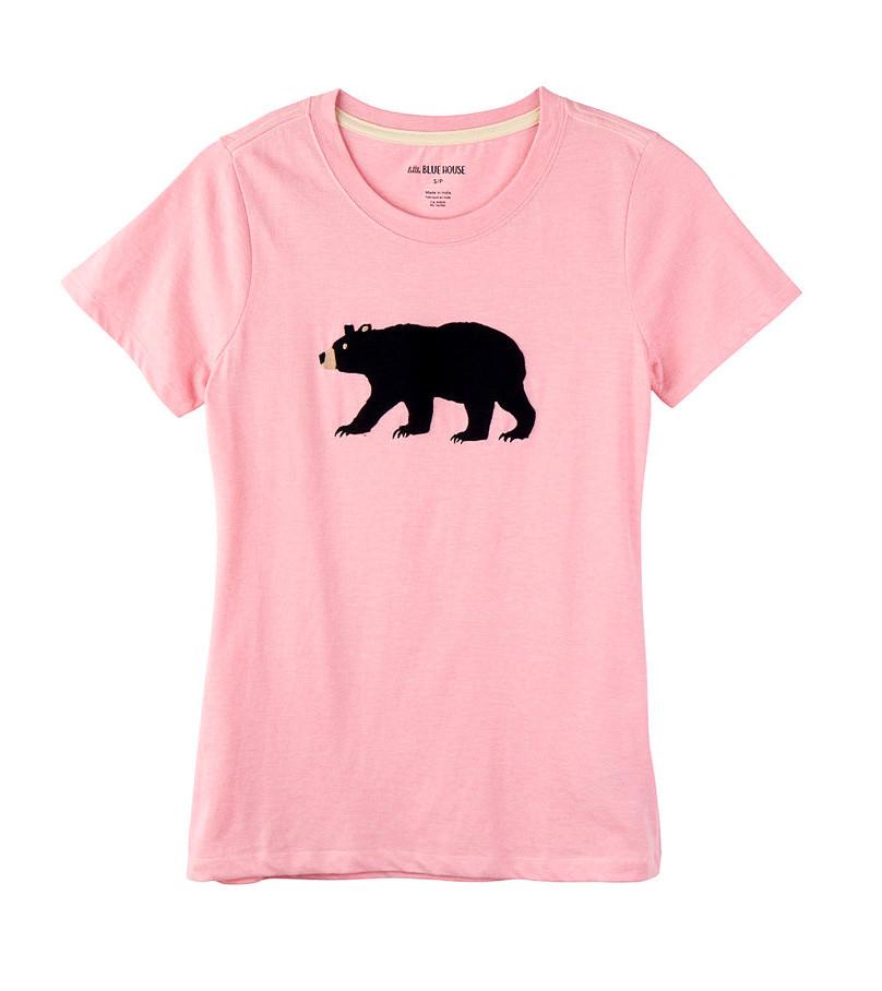 Hatley   Women's Pyjama Tee   Pink Bear