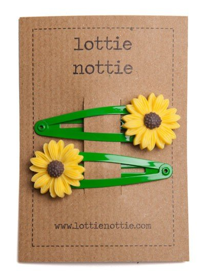 Lottie Nottie | Sunflower on Green Clips