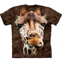 Mountain Big Face Tee - Giraffe