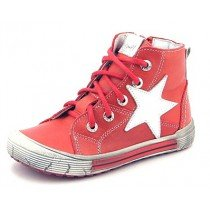 Emel First Shoes - Leather High Tops - Red