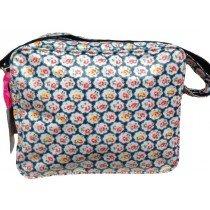 De Kunstboer School Bags - Blue Flower - Shoulder Bag