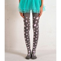 Funky Legs - Rain Drops - Dark Grey