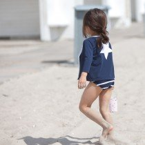 Petit Crabe - Long Sleeved Swimshirt - Star in Navy