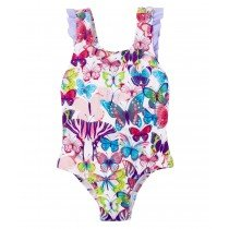 Hatley Girls Swimsuit - Butterflies - Front