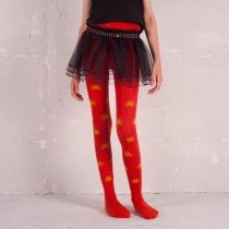 Funky Legs - Red Pumpkin Snow Tights