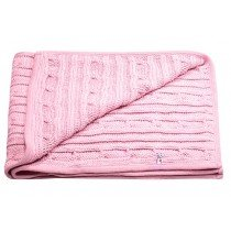 Lilly & Sid - Sparkle Cable Knitted - Baby Blanket