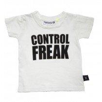 NUNUNU - Control Freak - Short Sleeve Tee Shirt in White