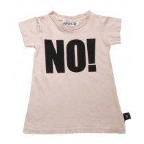 NUNUNU - Girls A Dress with NO! Print in pink