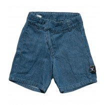 nununu - Diagonal Cotton Shorts - Denim
