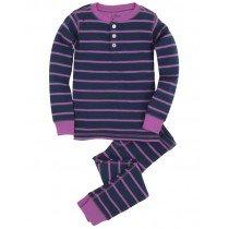 Hatley Pyjamas - Girls Henley PJ Set - Blue & Pink