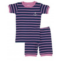 Hatley Pyjamas - Girls Short Pyjamas - Pink Stripe