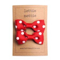 lottie nottie - Hair Bows - Polka Dot Red