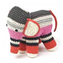 anne-claire petit - Handmade Crochet Elephant - Summer Pink