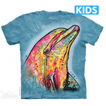 Mountain Face Russo Tees - Dolphin