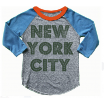 ROWDY SPROUT - NYC - Raglan TEE
