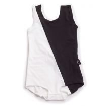 nununu - HALF & HALF SWIMSUIT - Black & White