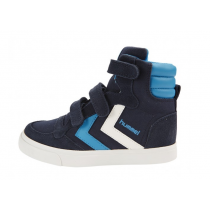 Hummel Trainers - Stadil Canvas High Tops - Dress Blue